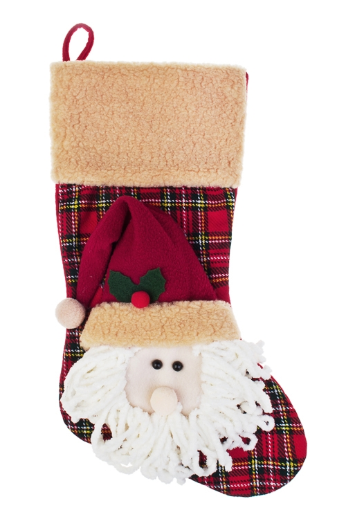 Рождественский носок Дедушка МорозСувениры и упаковка<br>Выс=51см, текстиль, подвесное<br>