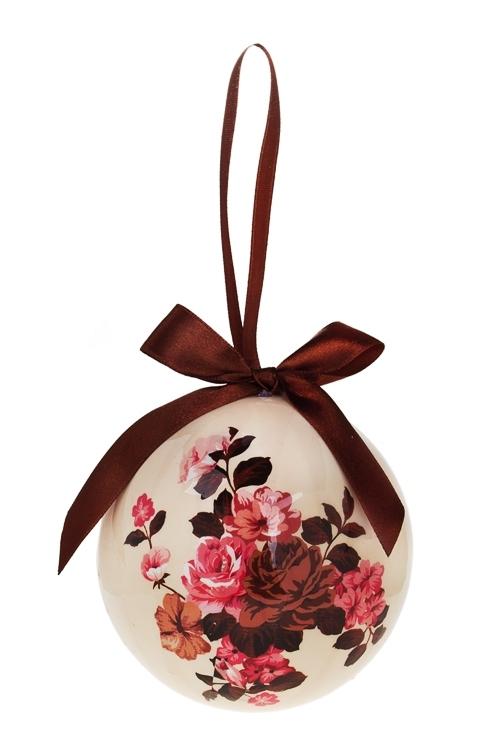 Шар елочный Прекрасные розыЕлочные шары<br>Д=10см, пенопласт, бум.<br>