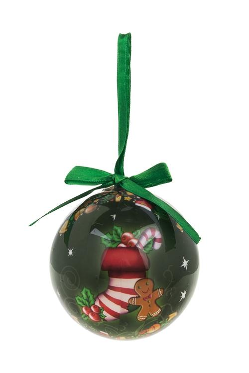 Шар елочный Сладкий подарокПодарки<br>Д=7.5см, пенопласт, бум.<br>