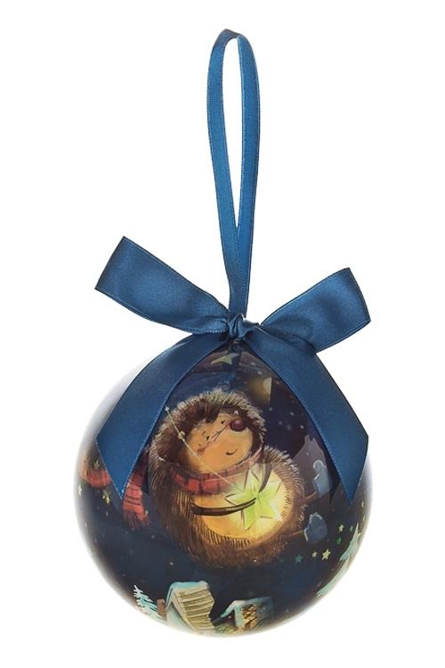 Шар елочный Волшебный ежикЕлочные шары<br>Д=10см, пенопласт, бум.<br>