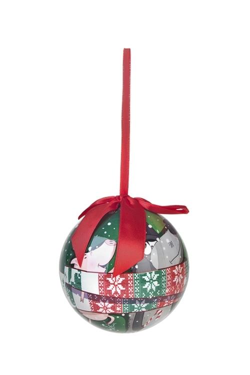 Шар елочный В гостях у сказкиЕлочные шары<br>Д=10см, пенопласт, бум.<br>