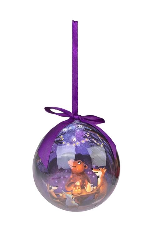 Шар елочный Сказочный лесЕлочные шары<br>Д=10см, пенопласт, бум.<br>
