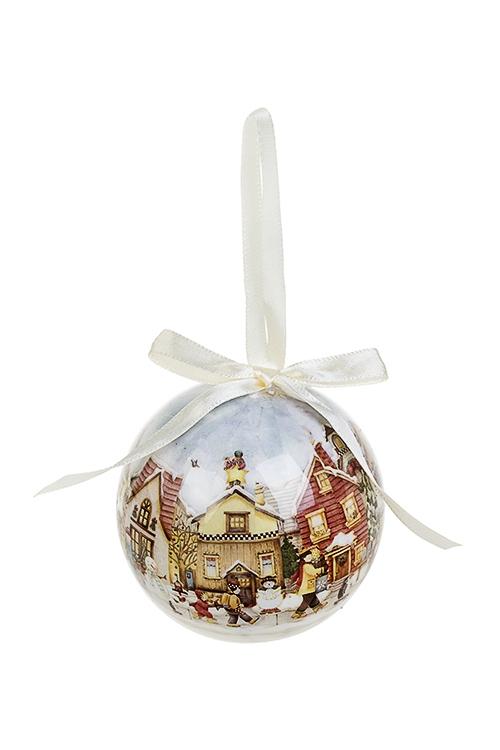 Шар елочный Зимний городЕлочные шары<br>Д=7.5см, пенопласт, бум.<br>