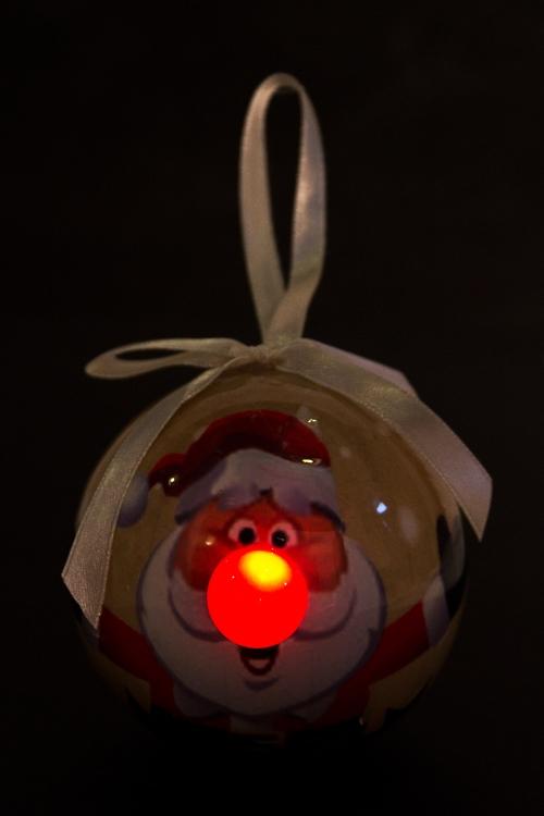 """Украшение елочное светящееся """"Смешной Дед Мороз"""" - 2"""