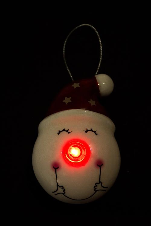 """Украшение елочное светящееся """"Смеющийся снеговик"""" - 2"""