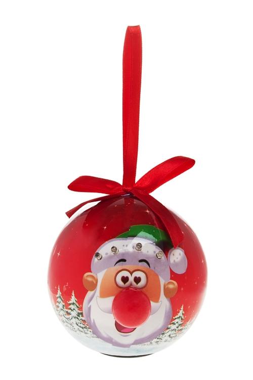 """Украшение елочное светящееся """"Смешной влюбленный Дед Мороз"""" - 1"""