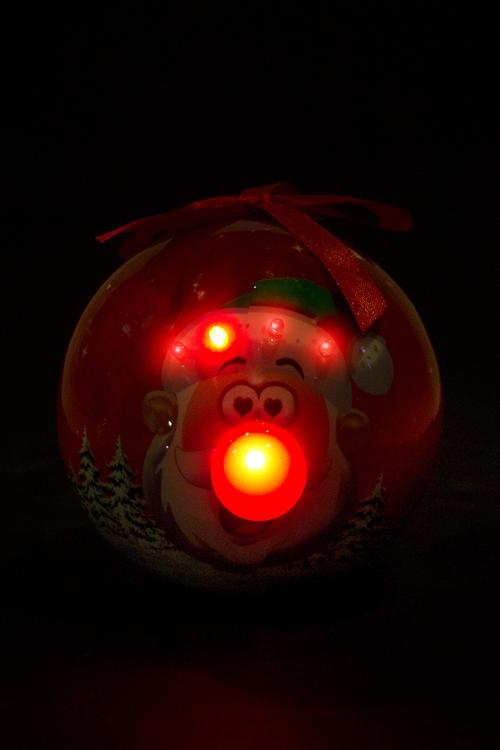 """Украшение елочное светящееся """"Смешной влюбленный Дед Мороз"""" - 2"""