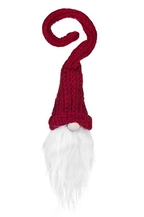 Украшение для бутылки Дед МорозПодарки<br>Выс=25см, текстиль (3 вида)<br>