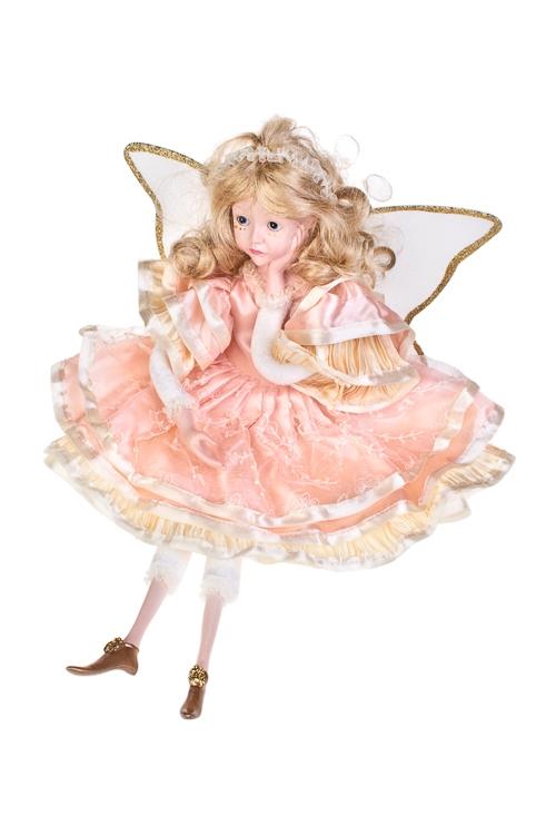 Кукла музыкальная и двигающаяся Задумчивый ангелКуклы<br>Выс=55см, полирезин, текстиль, персик.-крем.<br>
