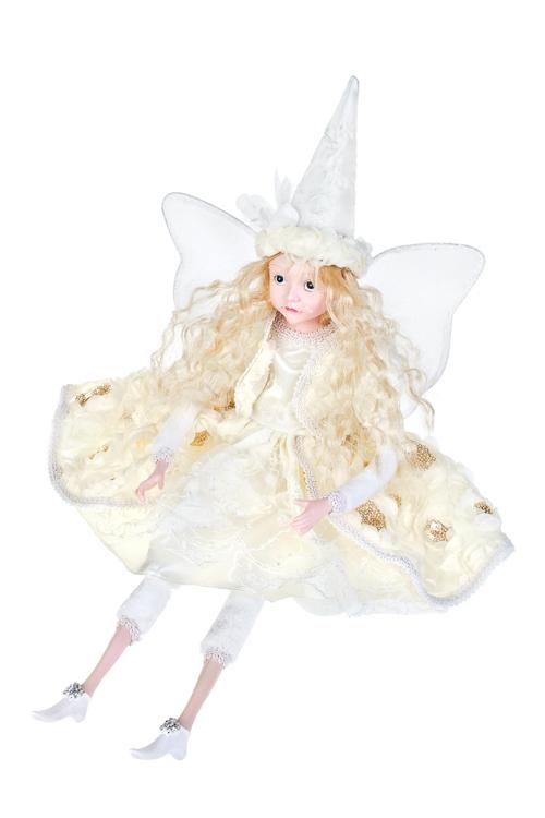 Кукла музыкальная и двигающаяся Сказочная феяПодарки ко дню рождения<br>Выс=55см, полирезин, текстиль, крем.<br>