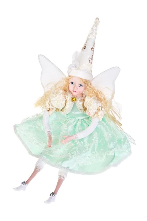 Кукла музыкальная и двигающаяся Прекрасная феяИгрушки и куклы<br>Выс=55см, полирезин, текстиль, мятно-крем.<br>