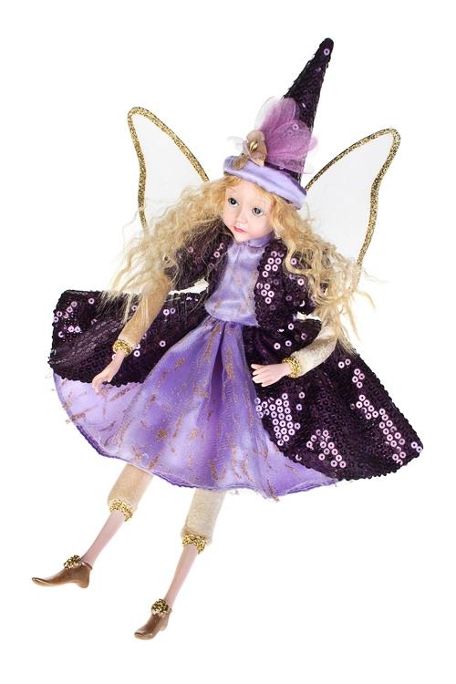 Кукла музыкальная и двигающаяся Прекрасная феяКуклы<br>Выс=55см, полирезин, текстиль, фиолет.-сирен.<br>