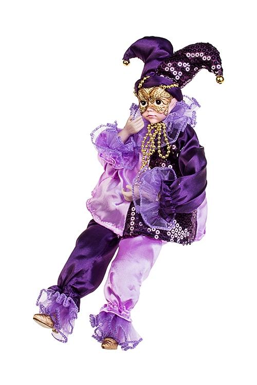 Украшение для интерьера музыкальное и двигающееся АрлекинИгрушки и куклы<br>Выс=40см, текстиль, полирезин, фиолет.-сирен.<br>