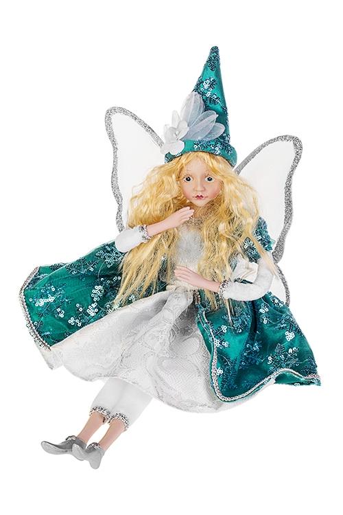 Украшение интерьерное музыкальное и двигающееся Сказочная феяИгрушки и куклы<br>Выс=55см, полирезин, текстиль, бело-бирюз.<br>