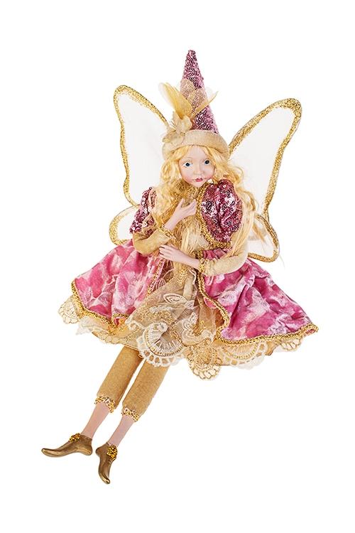 Украшение интерьерное музыкальное и двигающееся Сказочная феяИгрушки и куклы<br>Выс=55см, полирезин, текстиль, крем.-розово-золот.<br>
