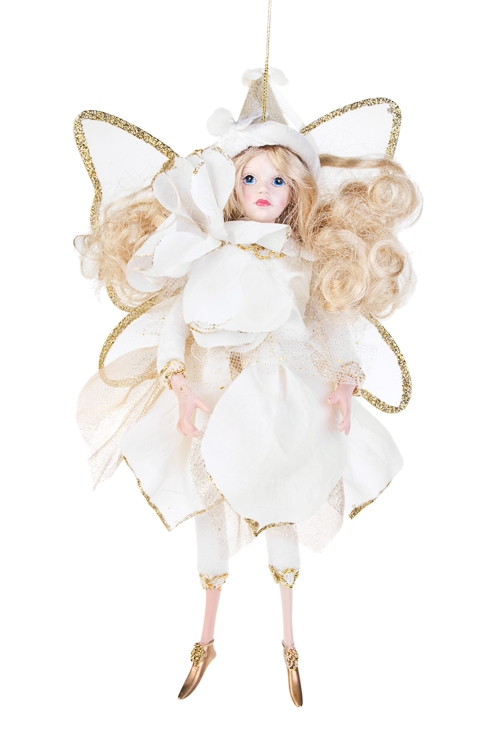 Кукла Цветочная феяИгрушки и куклы<br>Выс=31см, полирезин, текстиль, светло-крем.-золот., подвесное<br>