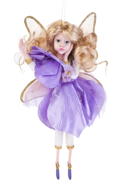 Кукла Цветочная феяИгрушки и куклы<br>Выс=31см, полирезин, текстиль, сирен., подвесное<br>