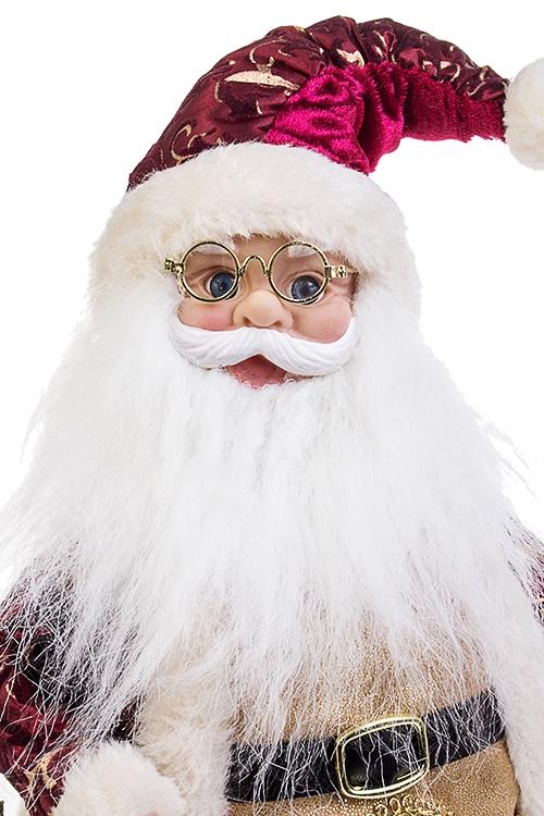 """Украшение новогоднее музыкально-двигающееся """"Дед Мороз с мешком подарков"""""""
