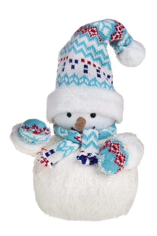 """Украшение новогоднее """"Снеговик в шапочке и шарфике"""" - 1"""