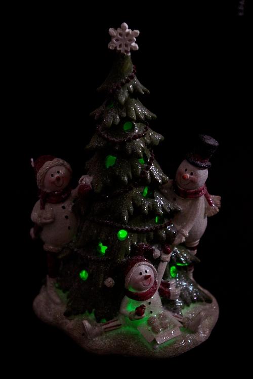 """Украшение новогоднее светящееся """"Снеговики у елки"""" - 3"""