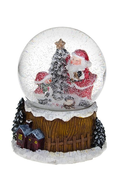 Украшение новогоднее музыкальное Шар - Время подарковНовогодние сувениры<br>Выс=14см, полирезин, стекло<br>