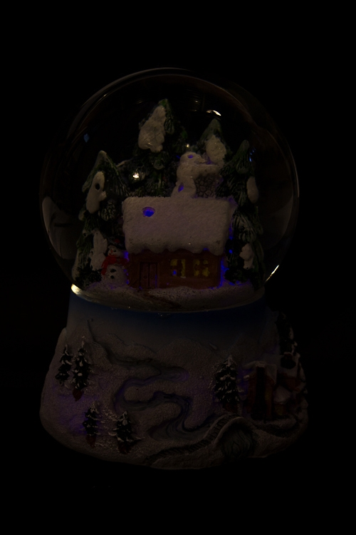 """Украшение новогоднее светящ. и музык. """"Шар - Домик в лесу"""" - 4"""