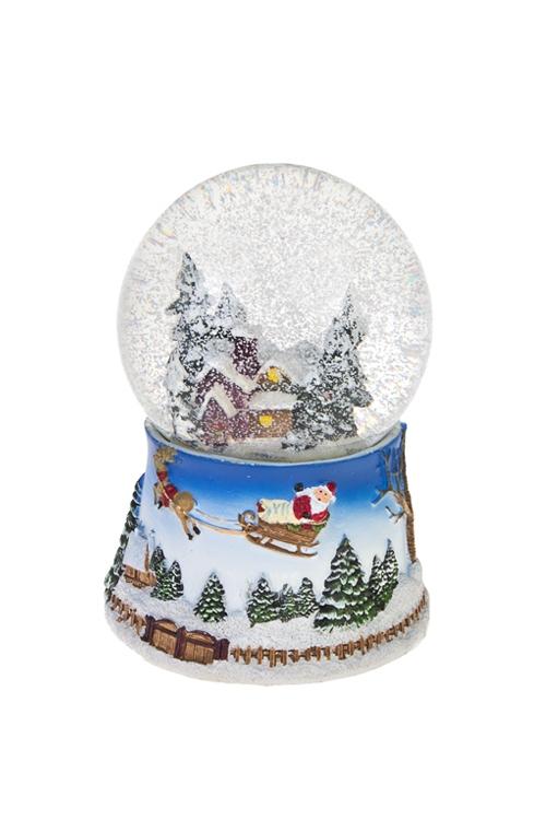 Украшение новогоднее светящееся и музыкальное Шар - Дом в лесуРазвлечения и вечеринки<br>Выс=14см, полирезин, стекло, на батар.<br>