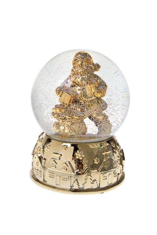 Шар со снегом Дед Мороз с подаркамиФигурки<br>Выс=14см, полирезин, стекло<br>