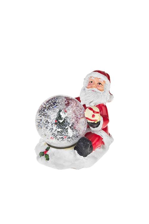 "Шар со снегом ""Дед Мороз с елочкой"""