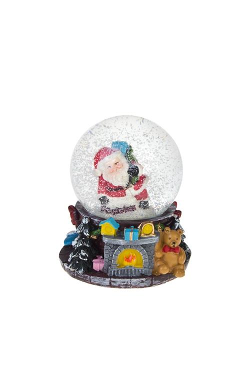 Шар со снегом Время подарковСувениры и упаковка<br>Выс=9см, полирезин, стекло<br>