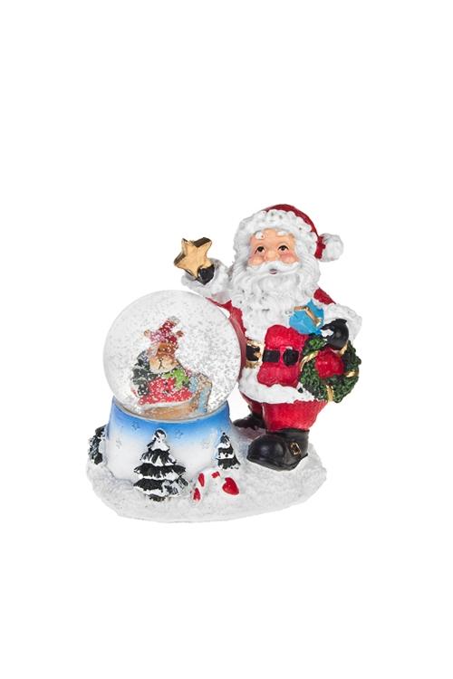 """Шар со снегом """"Дед Мороз и лосик"""""""