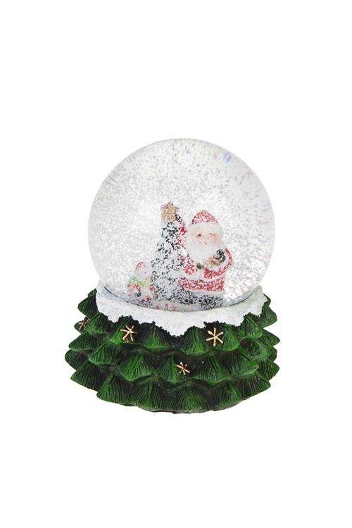 "Шар со снегом ""Дед Мороз у елочки"""