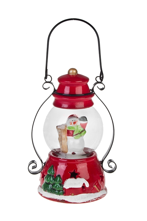 Украшение новогоднее светящееся Волшебная лампаСветящиеся украшения<br>Выс=17см, керам., стекло (2 вида), на батар.<br>