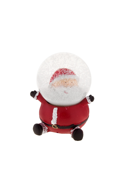 Шар со снегом Дед МорозШары со снегом<br>Выс=6.5см, полирезин, стекло, красно-бело-черное, с жидк.<br>