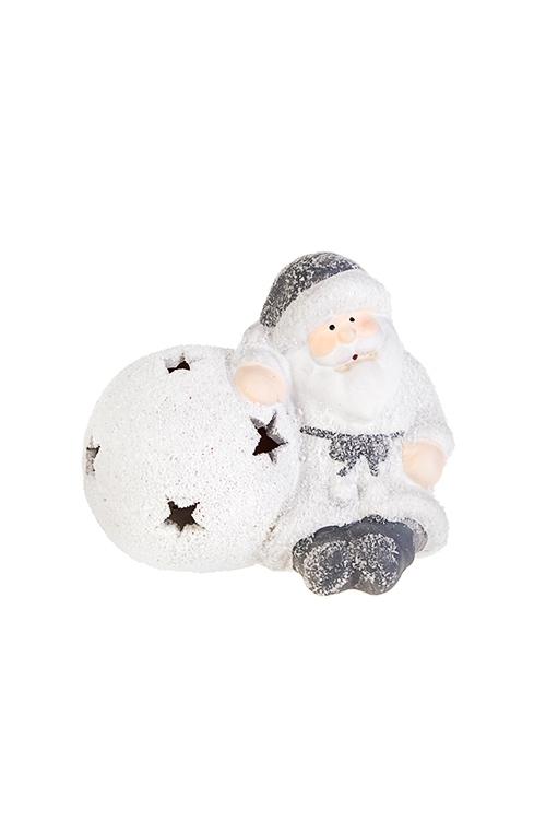 """Купить со скидкой Украшение новогоднее светящееся """"Дед Мороз со снежным шаром"""""""