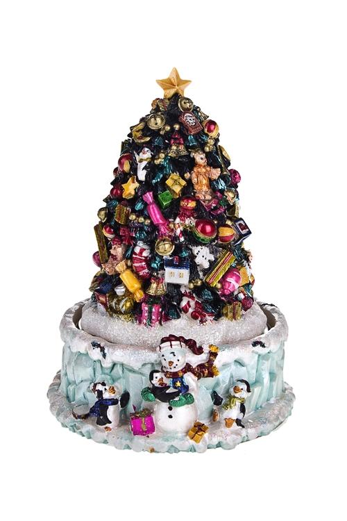 """Украшение новогоднее музыкальное и двигающееся """"Елка с волшебными игрушками"""" - 1"""