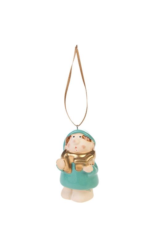 Украшение декоративное СказочникЕлочные игрушки<br>Выс=7см, керам., разноцв., подвесное (2 вида)<br>