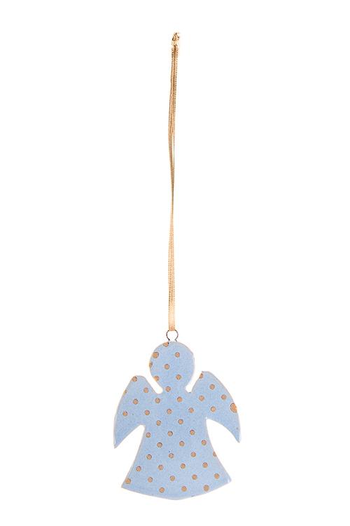 Украшение декоративное Ангелочек в горошекСувениры и упаковка<br>Выс=6.5см, керам., синее, голубое, подвесное (2 цвета<br>