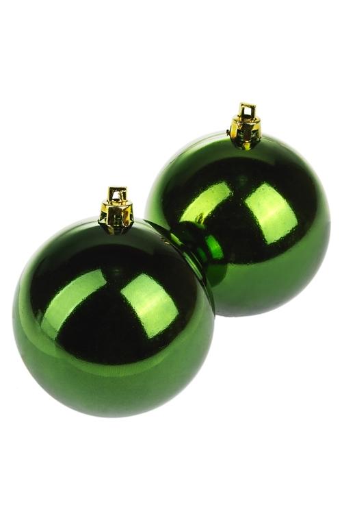 Набор шаров елочныхПодарки<br>2-предм., Д=7.5см, пласт., ярко-зеленый<br>