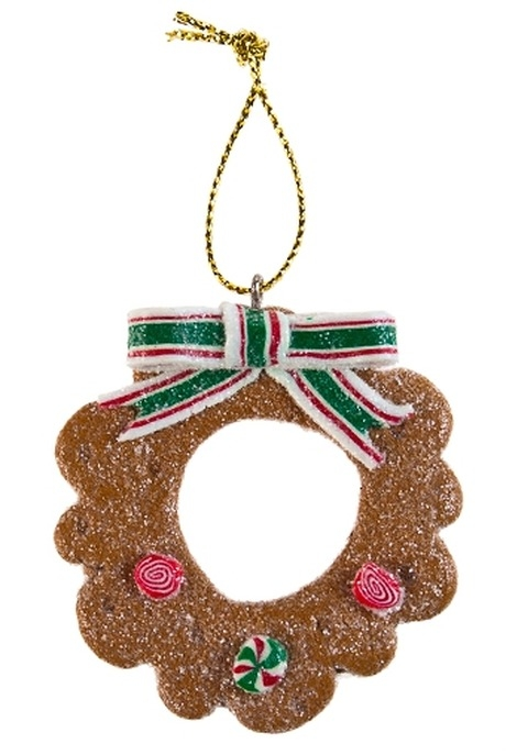 Сувенир новогодний Имбирные пряникиЕлочные игрушки<br>Полирезин (6 видов)<br>