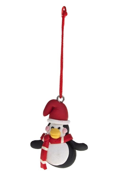 Украшение новогоднее Персонаж в шарфикеЕлочные игрушки<br>Выс=3см, керам., подвесное (2 вида)<br>