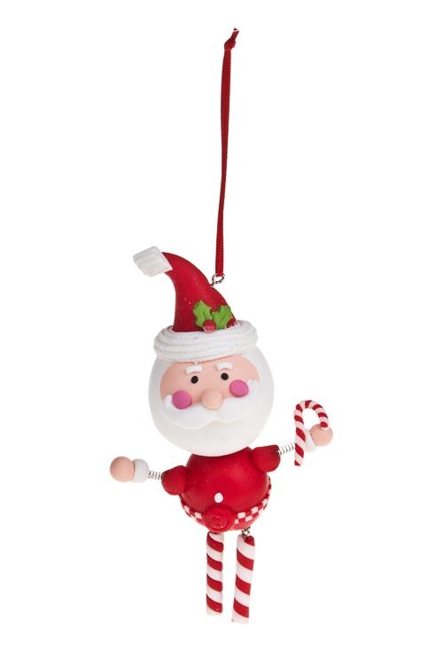 """Украшение новогоднее """"Дед Мороз с конфетой"""""""