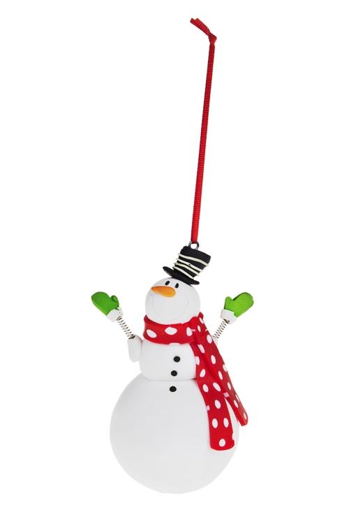 """Украшение новогоднее """"Снеговик с шарфиком"""" - 1"""