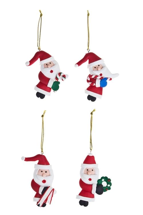 Набор украшений новогодних Веселые дедулиПодарки на Новый год 2018<br>Выс=5см, керам., подвесной<br>