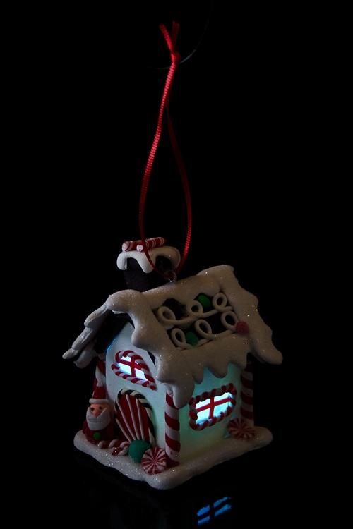 """Украшение новогоднее светящееся """"Конфетный домик"""" - 2"""