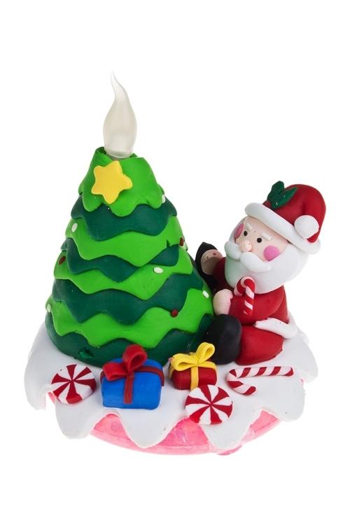 """Украшение новогоднее светящееся """"Дед Мороз у елки"""" - 1"""