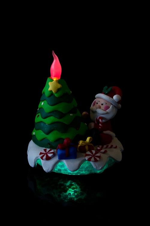 """Украшение новогоднее светящееся """"Дед Мороз у елки"""" - 2"""