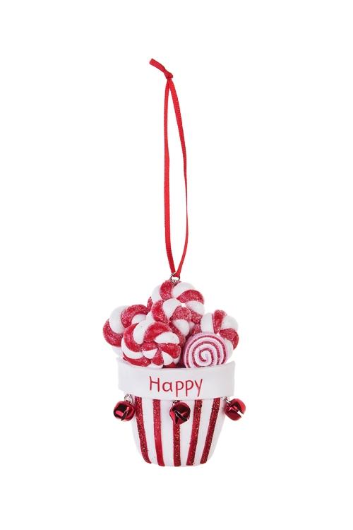 Украшение декоративное Мечта сладкоежкиЕлочные игрушки<br>Выс=9см, керам., подвесное<br>