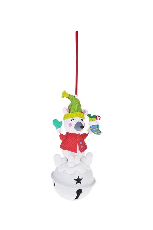 Украшение декоративное Зимние забавыЕлочные игрушки<br>Выс=13см, керам., металл, подвесное (2 вида)<br>