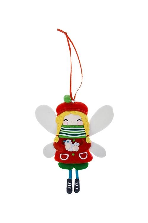 Украшение декоративное Зимняя феечкаДекоративные гирлянды и подвески<br>8*11см, пластм., подвесное (3 вида)<br>